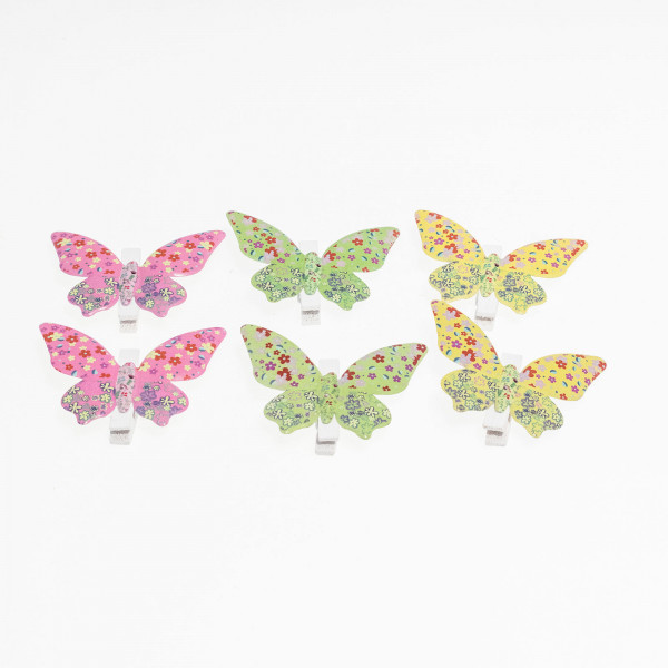 Mariposa con pinza metal (pack de 6 unidades)
