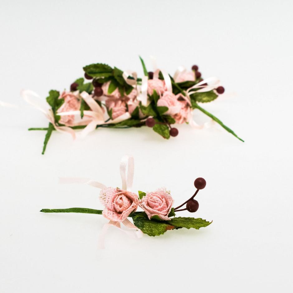 Pick 2 flores rosas (pack de 10 unidades)
