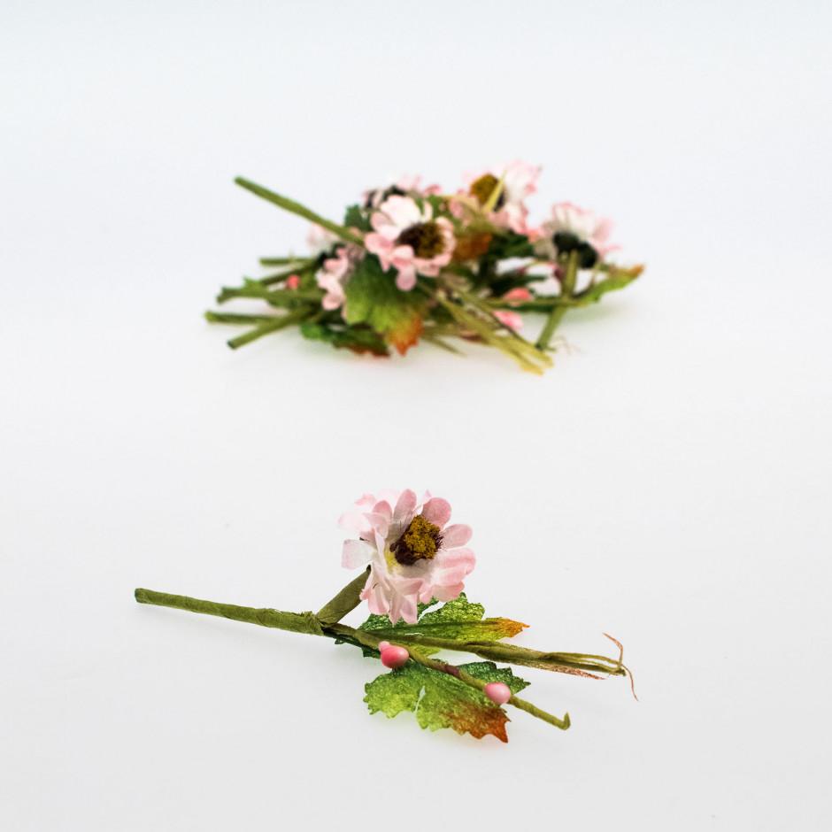 Pick flor rosa (pack de 10 unidades)