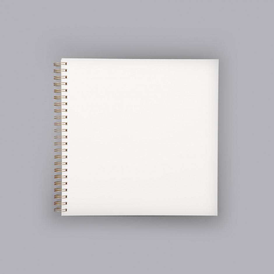 Álbum de fotos cuadrado blanco