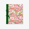 Álbum vertical, tapas decoradas con papel personalizado, encuadernación lazo