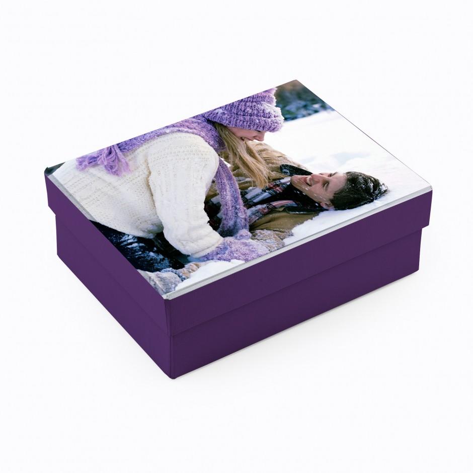 Caja personalizada con foto (rectangular, alta)