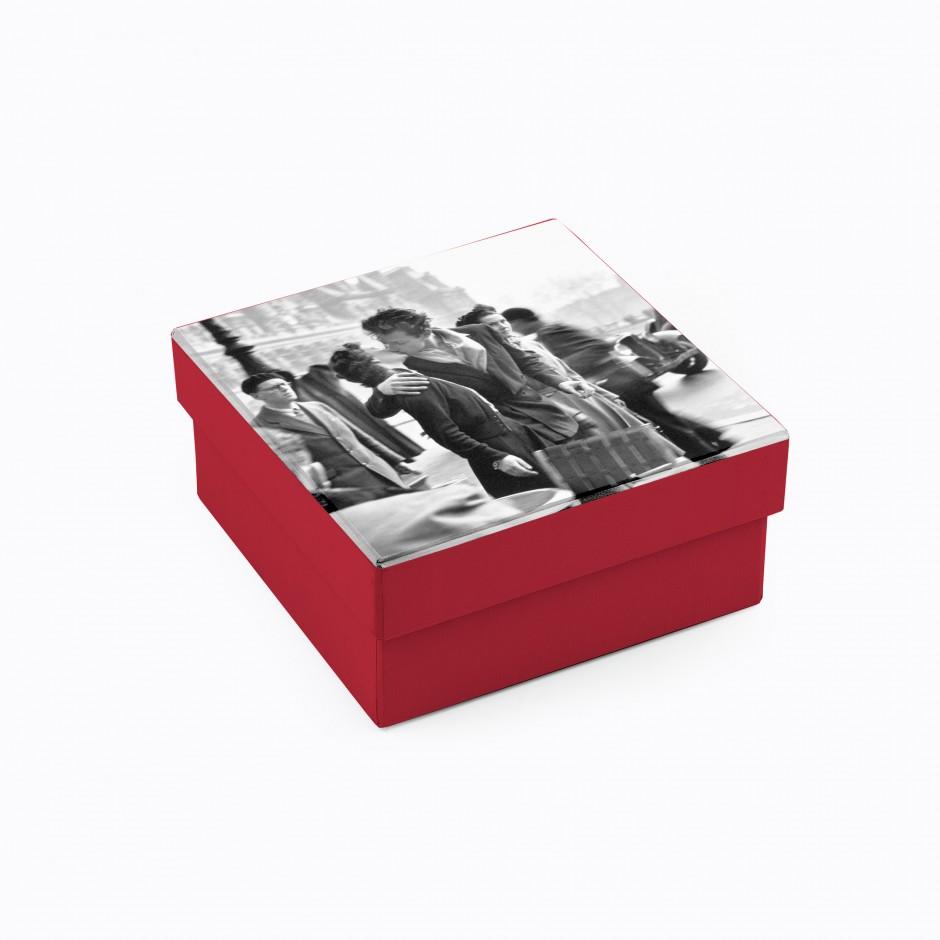 Caja personalizada con foto (cuadrada, alta)