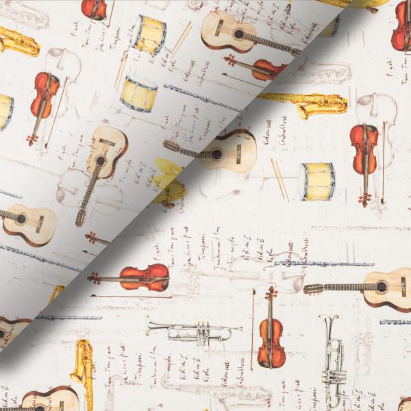 Pliego de papel Instrumentos musicales