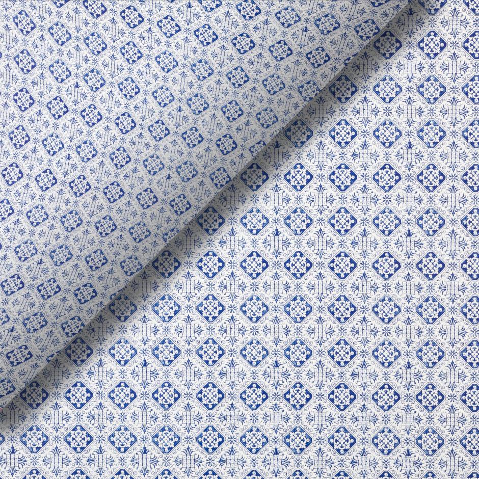 Pliego de papel Florencia azul