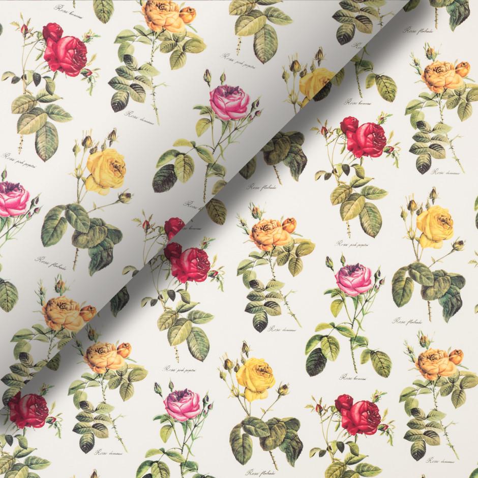 Pliego de papel Rosas