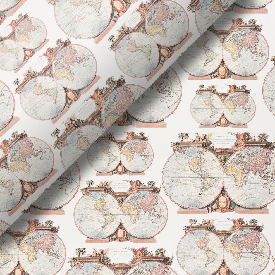 Pliego de papel Planisferios