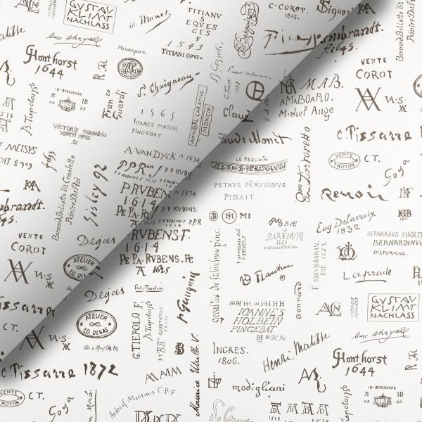 Pliego de papel Firmas de artistas