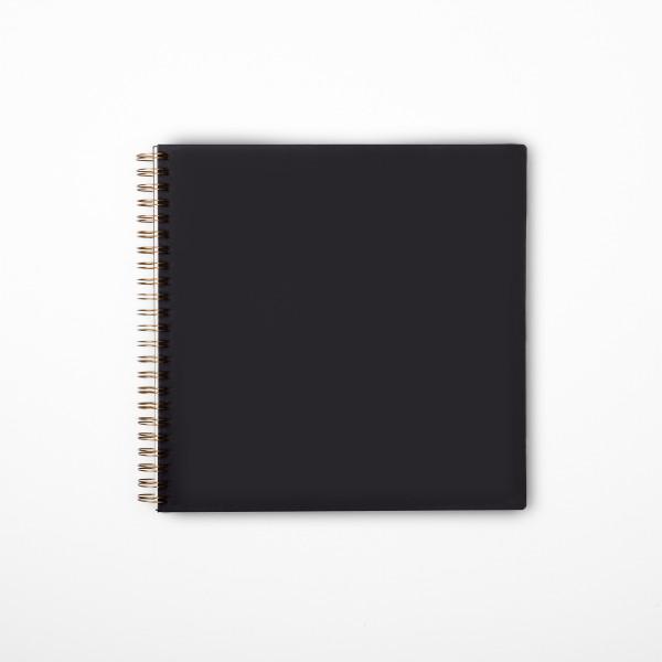Álbum de fotos cuadrado negro