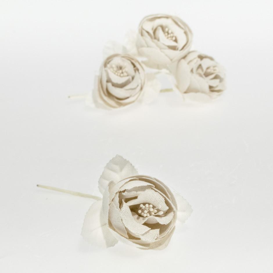 Rosa textil beig (pack de 4 unidades)