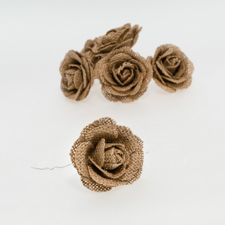 Flor yute (pack de 6 unidades)