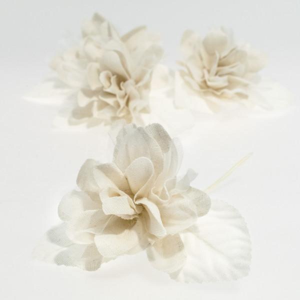 Flor marfil 2 tejidos (4 unidades)