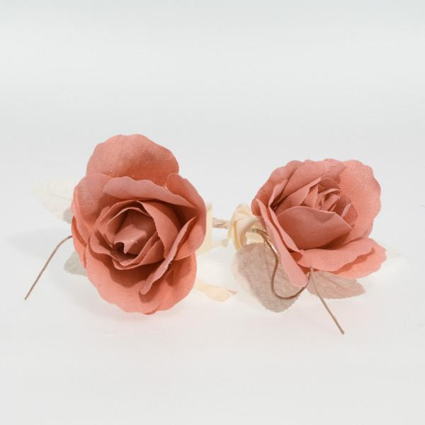 Flor de lino rosa (pack de 2 unidades)