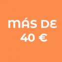 Entre 20€ y 40€
